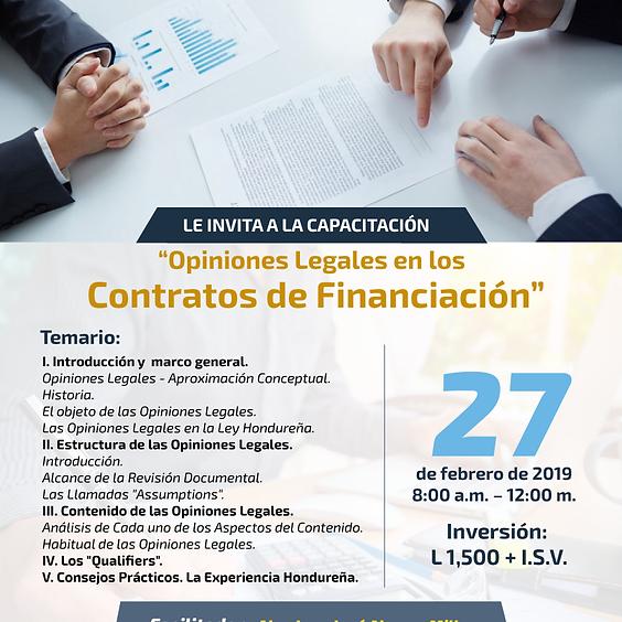 Capacitación Opiniones Legales en Contratos de Financiación