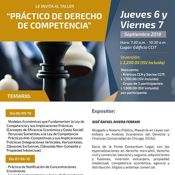 Curso/Taller Práctica de Derecho de Competencia