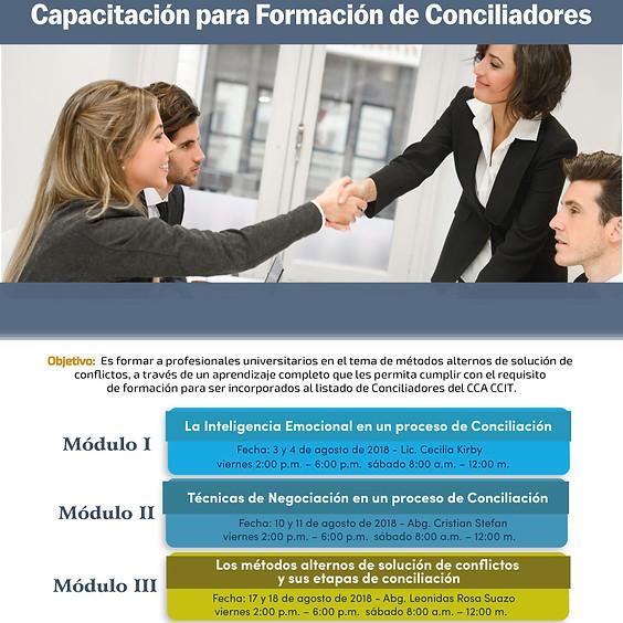 Capacitación para Formación de Conciliadores
