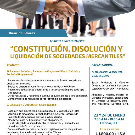 """Capacitación """"Constitución, Disolución y Liquidación de Sociedades Mercantiles"""""""