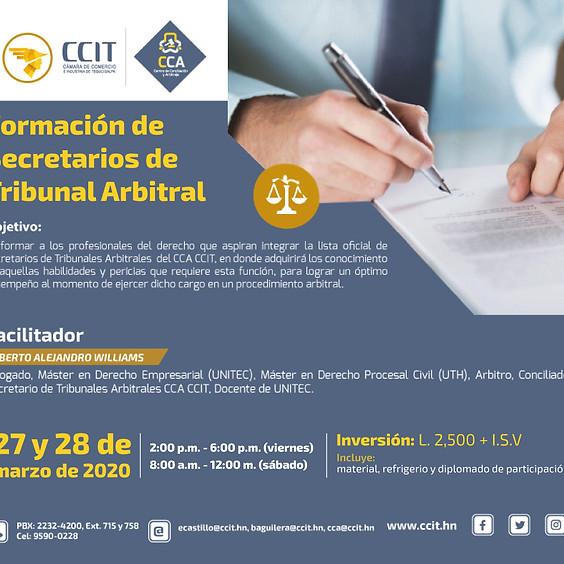 Formación de Secretarios de Tribunal Arbitral