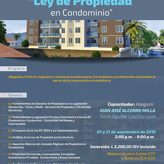 Capacitación Ley de Propiedad en Condominio