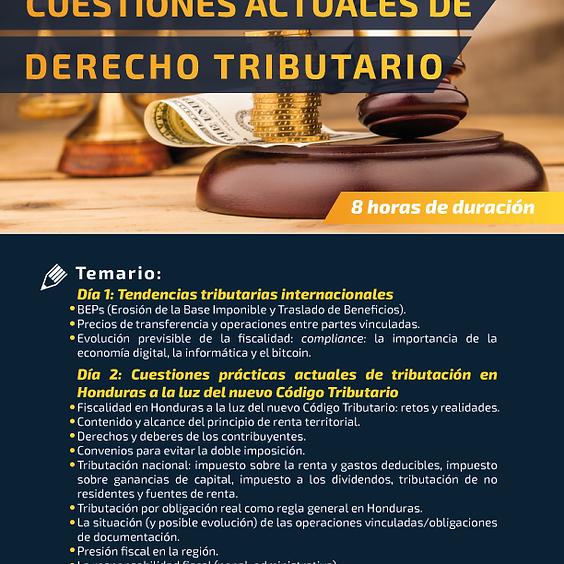 Capacitación Cuestiones de Actualidad en Derecho Tributario