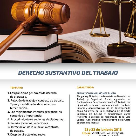 Capacitación Derecho Sustativo del Trabajo