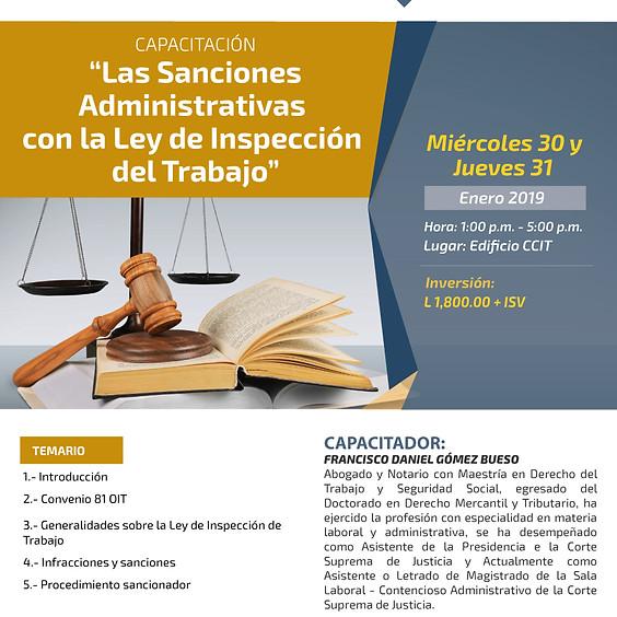 """Capacitación """"Las Sanciones Administrativas con la Ley de Inspección del Trabajo"""""""