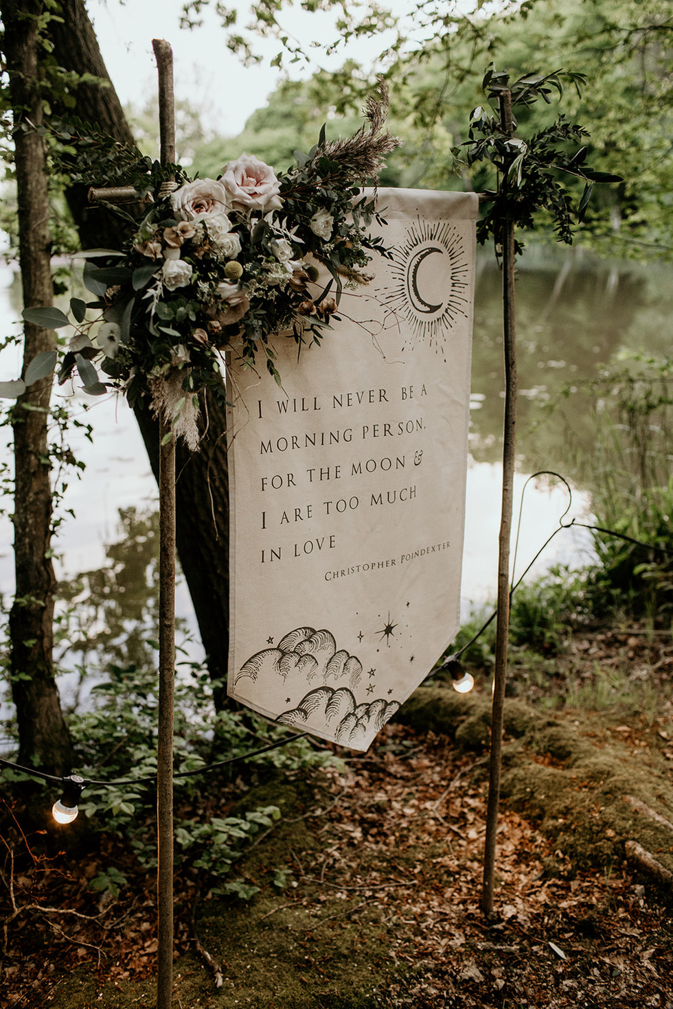 This and a choice of many more beautiful banners are available to buy for your woodland wedding, or purhapes you'd like to design your own? A perfect keepsake!  More details available upon request.