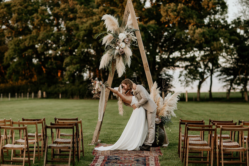 Our other ceremony option here at Wickerwood Farm.  Perfect for the larger guest numbers.