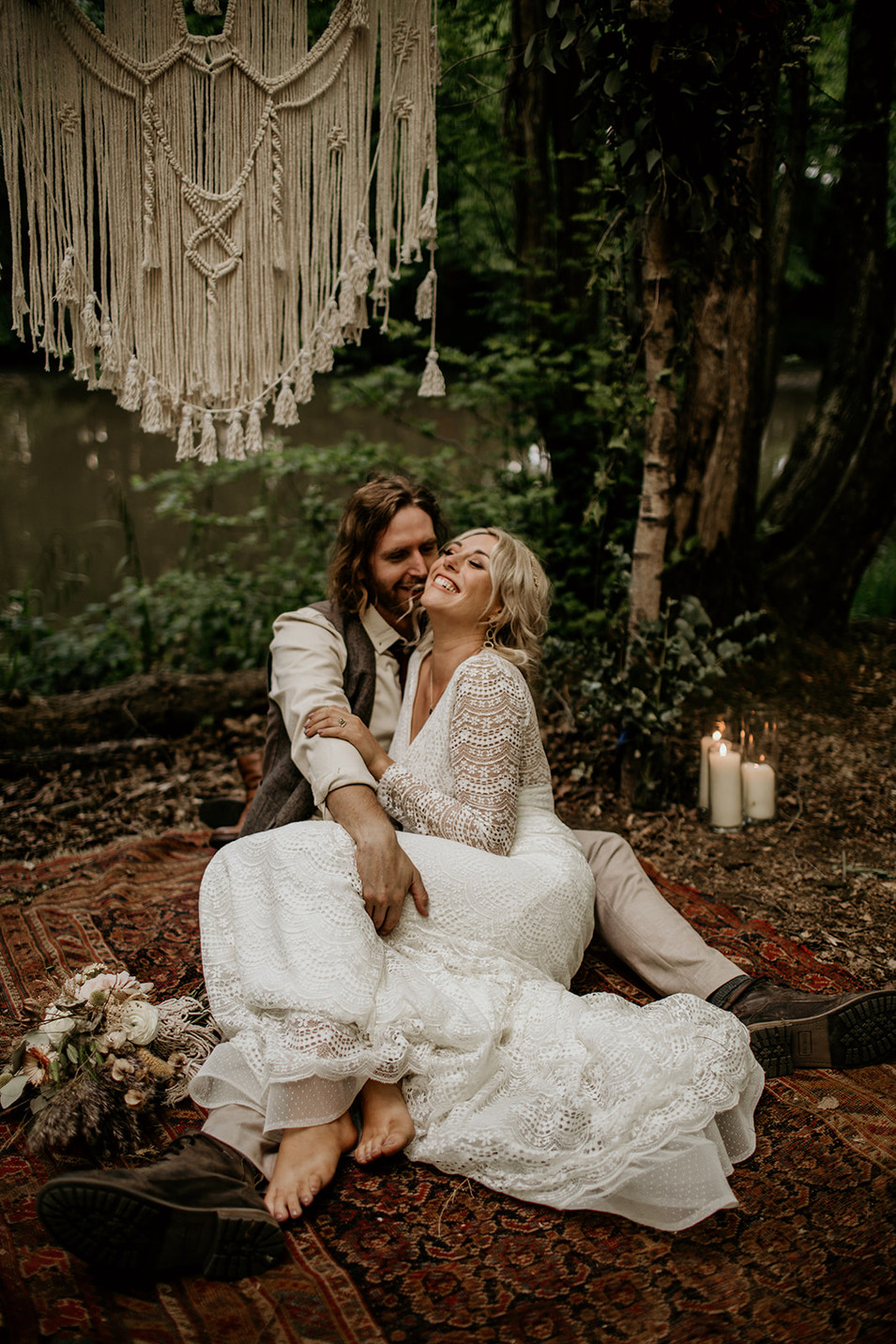 The perfect setting for a boho style infused wedding.