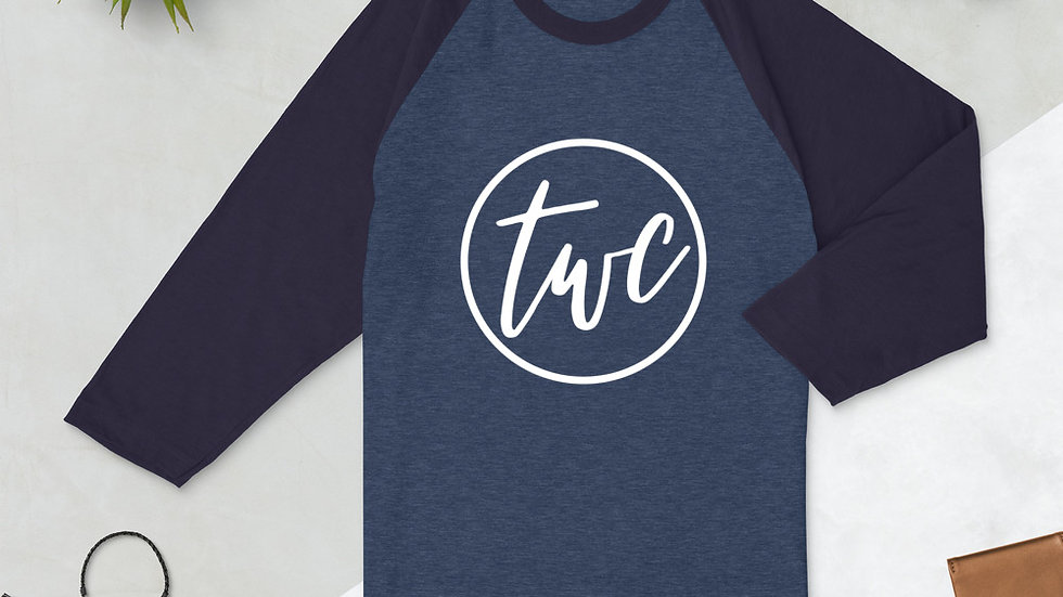 Logo 3/4 sleeve raglan shirt
