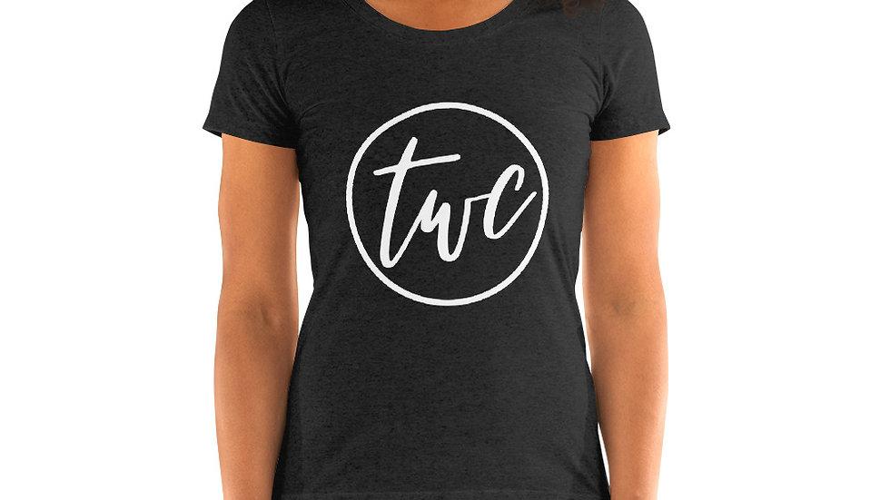 White Logo Ladies' short sleeve t-shirt