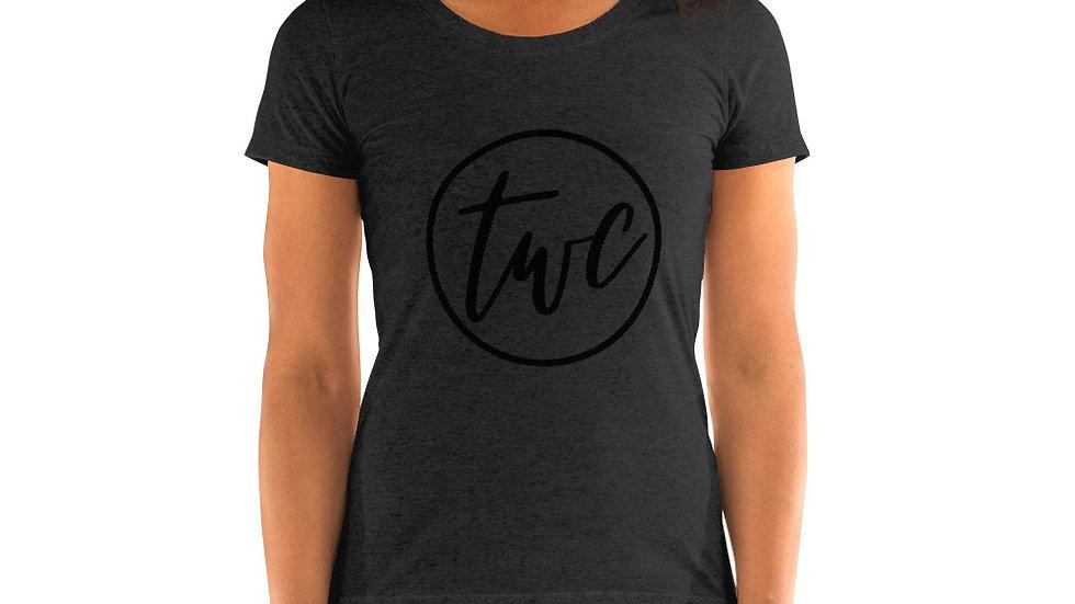Black Logo Ladies' short sleeve t-shirt
