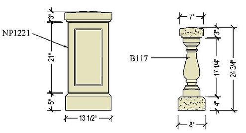 Cast stone balustrade B117b.jpg
