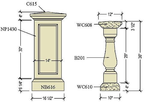 Architectural pre cast balustrade B201b.jpg
