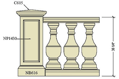 Cast stone balustrade B128.jpg