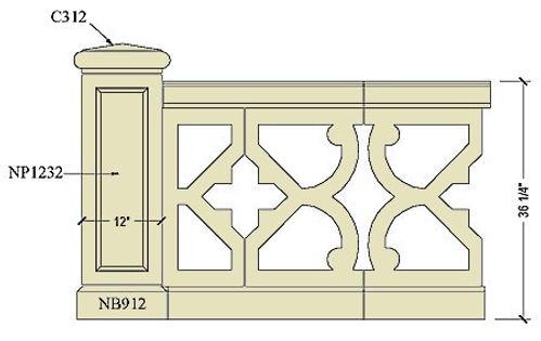 Architectural pre cast balustrade B500a.jpg