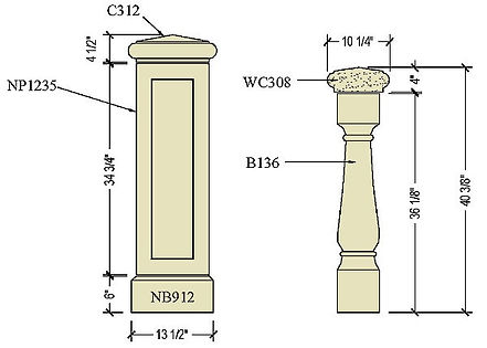 Architectural pre cast stone balustrade B136b.jpg