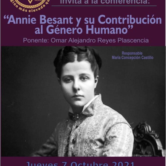 Annie Besant y su Contribución al Genero Humano
