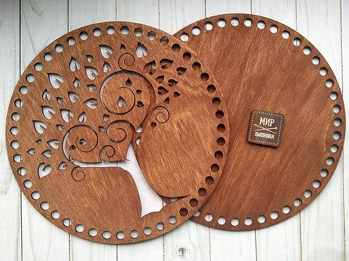 Набор основ для корзины, круг d260, дерево