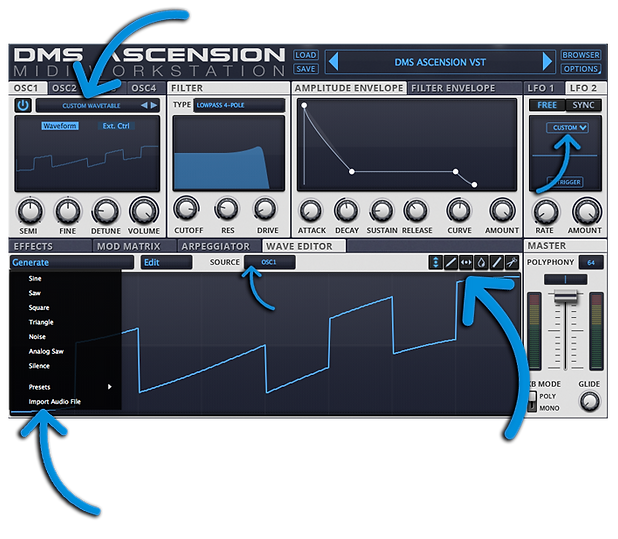 DMS Ascension Synth Plugin - Wavetable Editor & Import