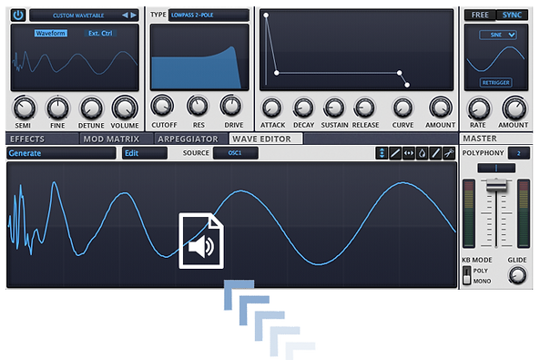 Drag & Drop Wave Files To Create Oscillators & LFO Shapes For Your VSTi