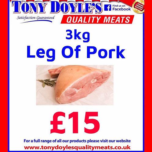 3kg Leg of Pork