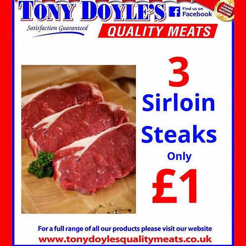 3 Sirloins for £1