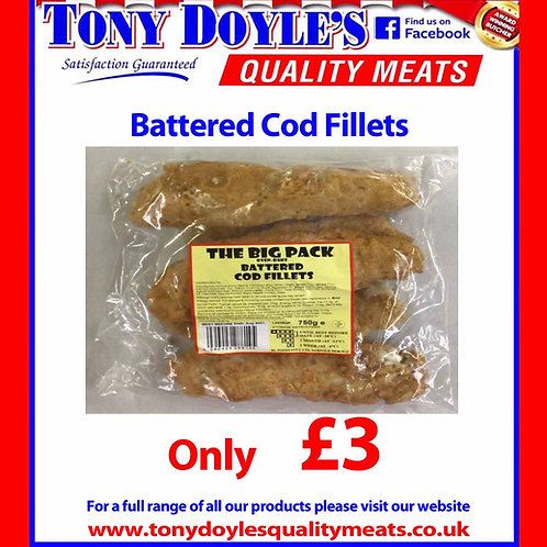 Battered Cod Fillets