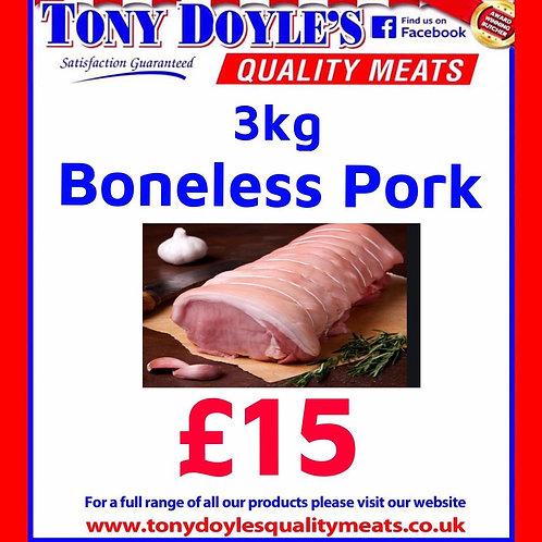 3kg Boneless Pork Loin Joint