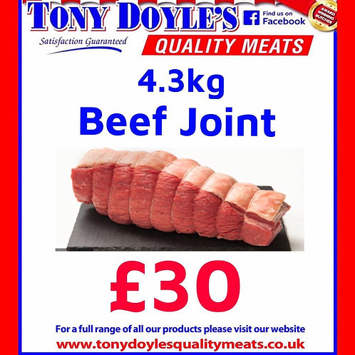 4.3Kg Beef Roasting Joint