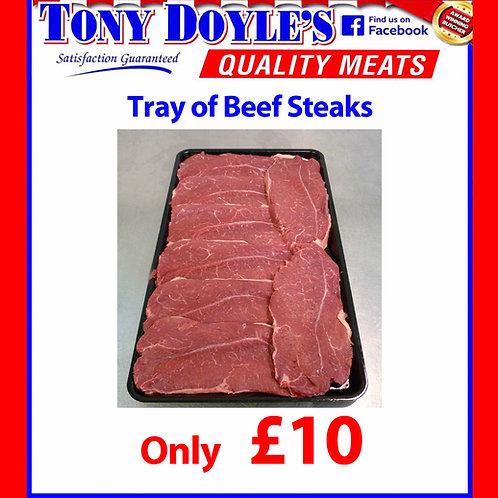£10 Beef Steaks