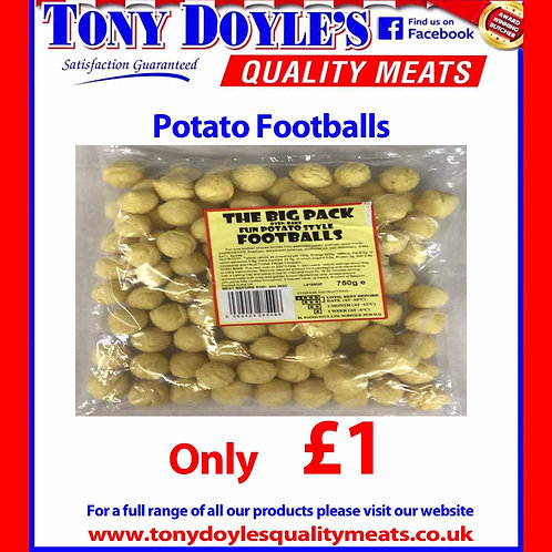 Potato Footballs