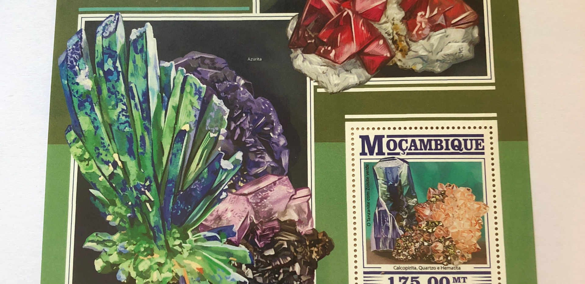 vibrant gemstone stamp art