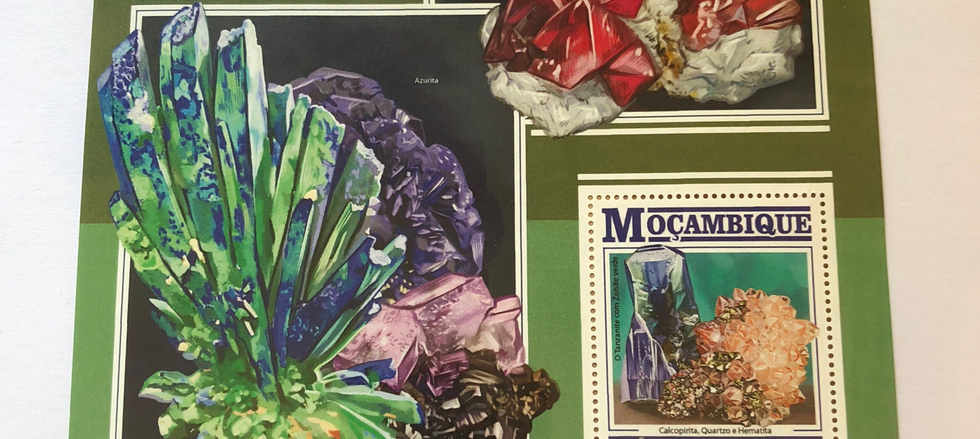 vibrant gemstone stamp art