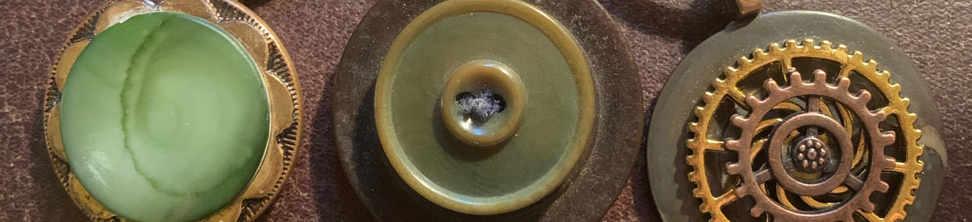 Bohemian Button Pendants