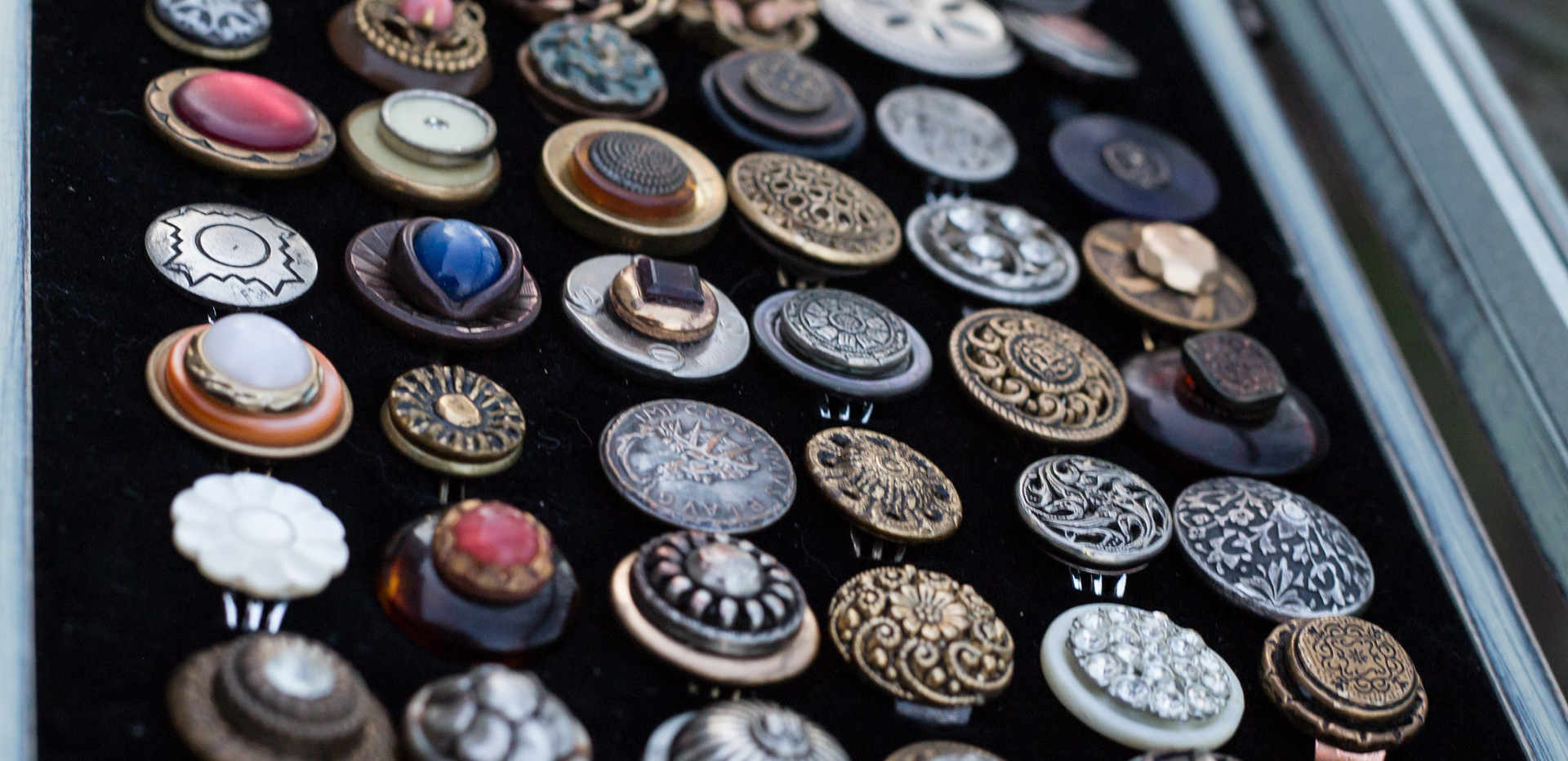 Antique Button Ring Tray