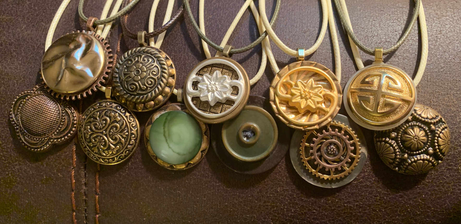Old made New Button Jewelry