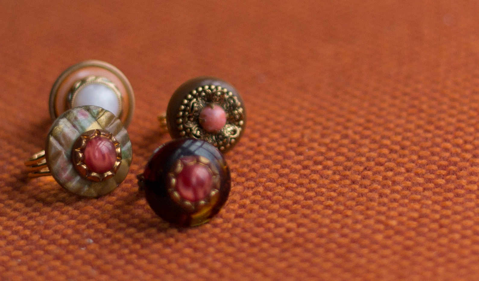 Glass and Metal Vintage Buttons
