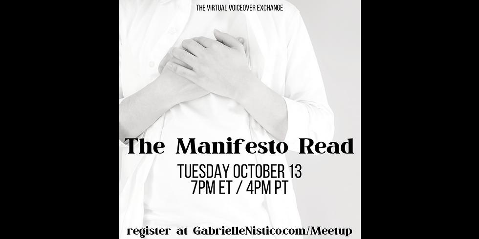 The Manifesto Read