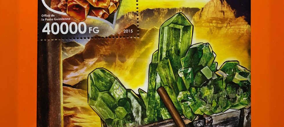gemstone stamp art framed