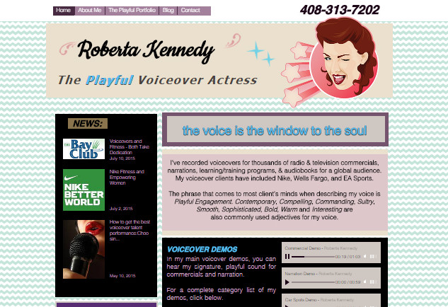 Roberta Kennedy | The Playful Voiceover Actress