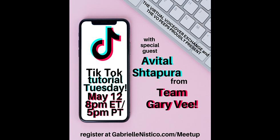 #TikTokTuesday with special guest Avital Shtapura!