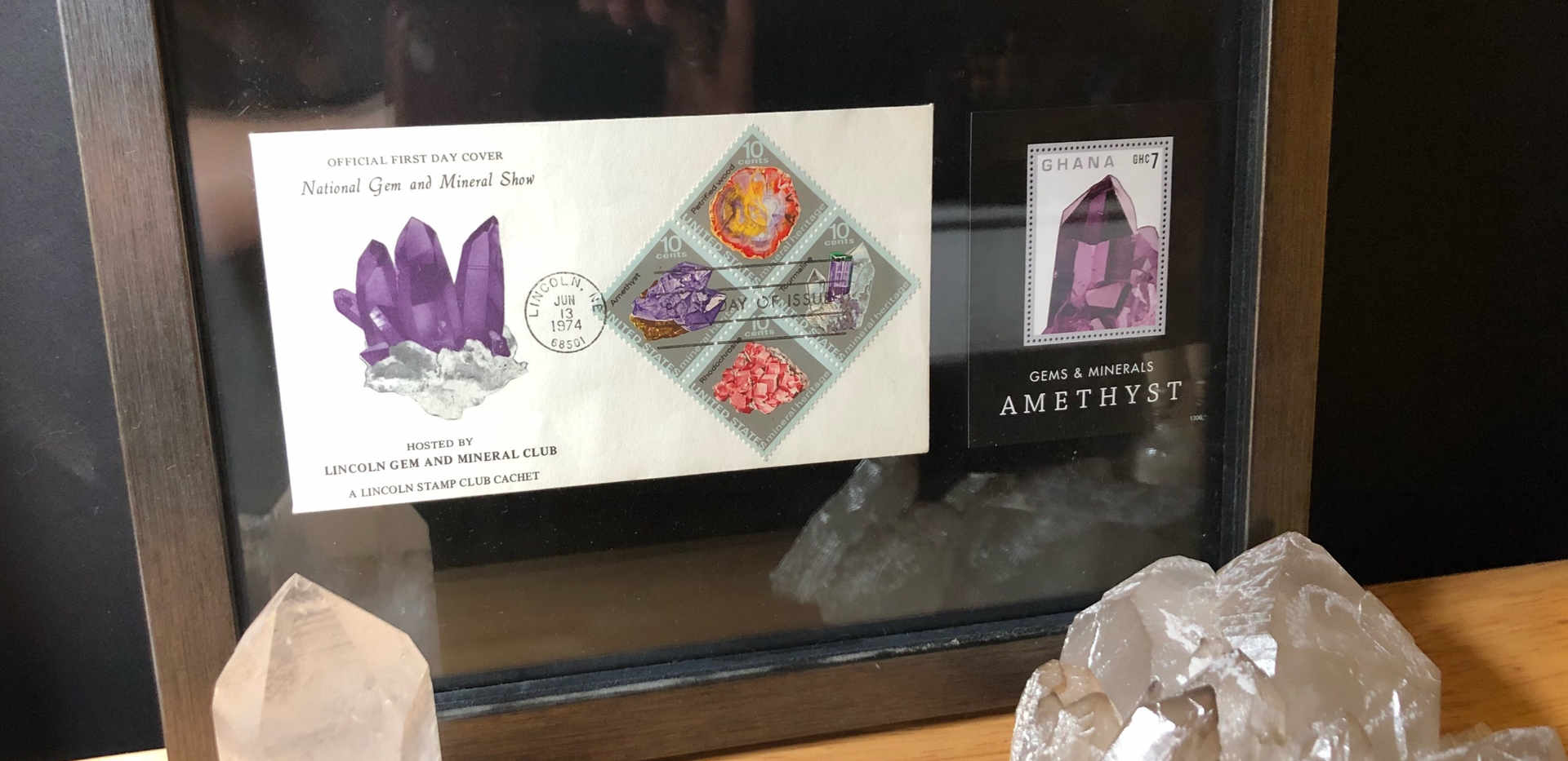 Rock stamp gemstone art