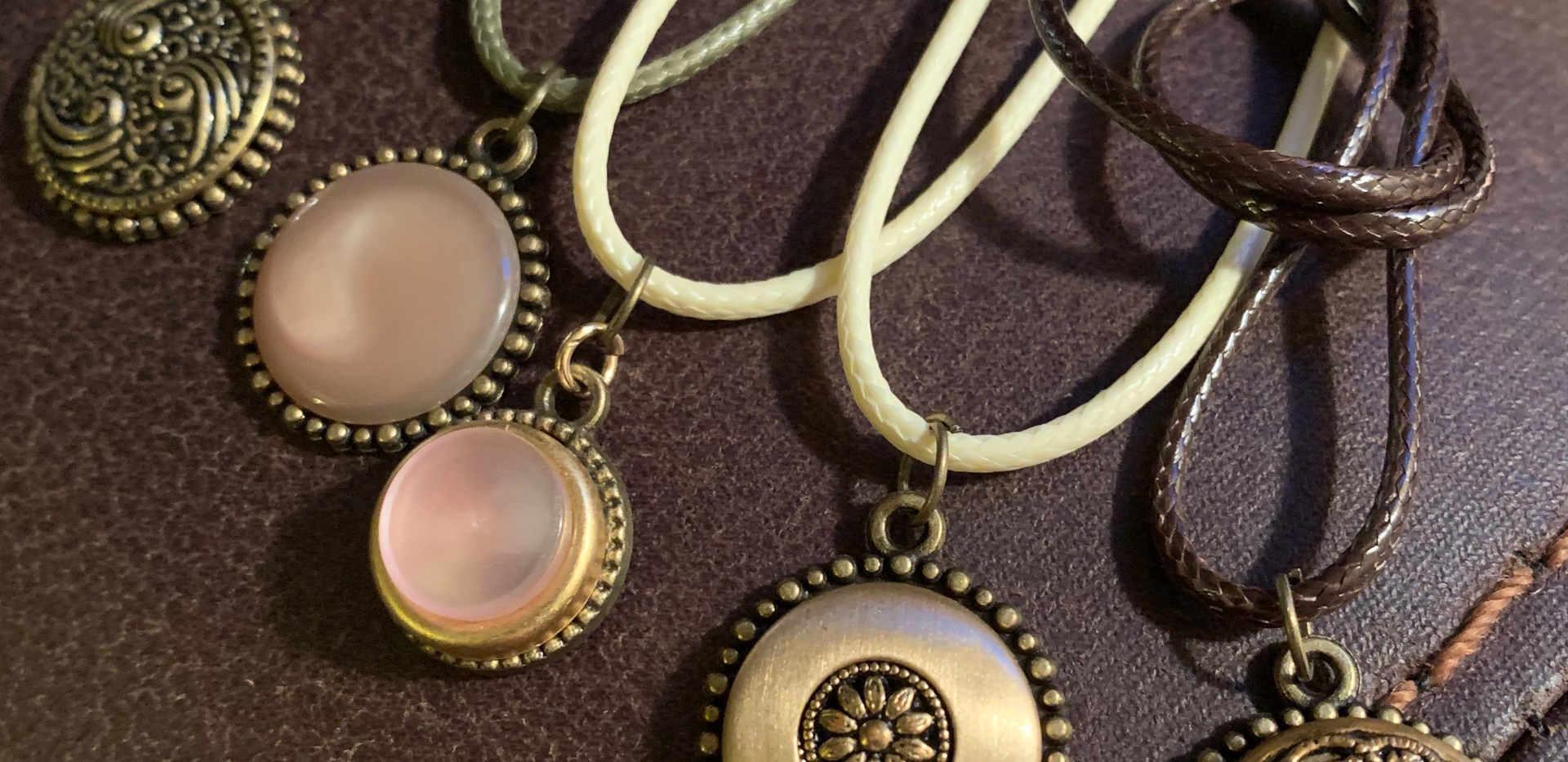 Vintage Button pendants