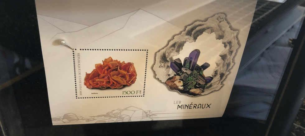 custom framed gemstone stamp art