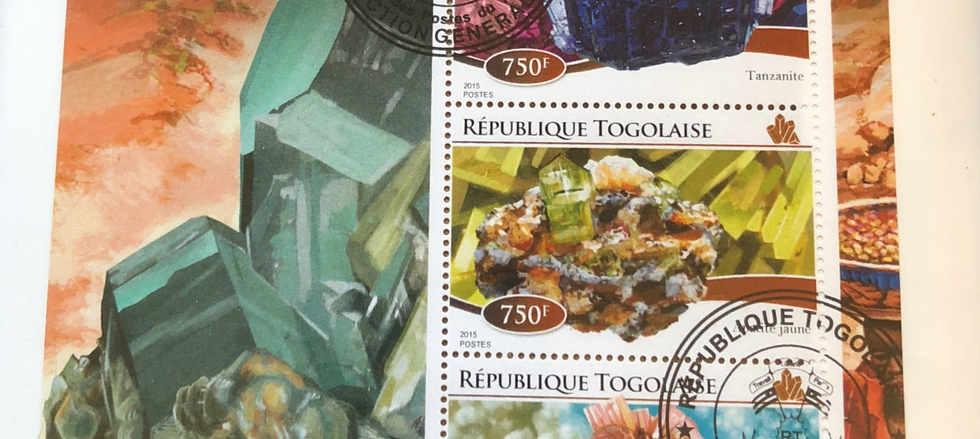rock and mineral stamp art framed