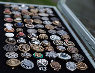 Vintage button ring jewelry