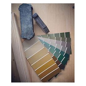 palettes de couleurs de peintures pour décoration