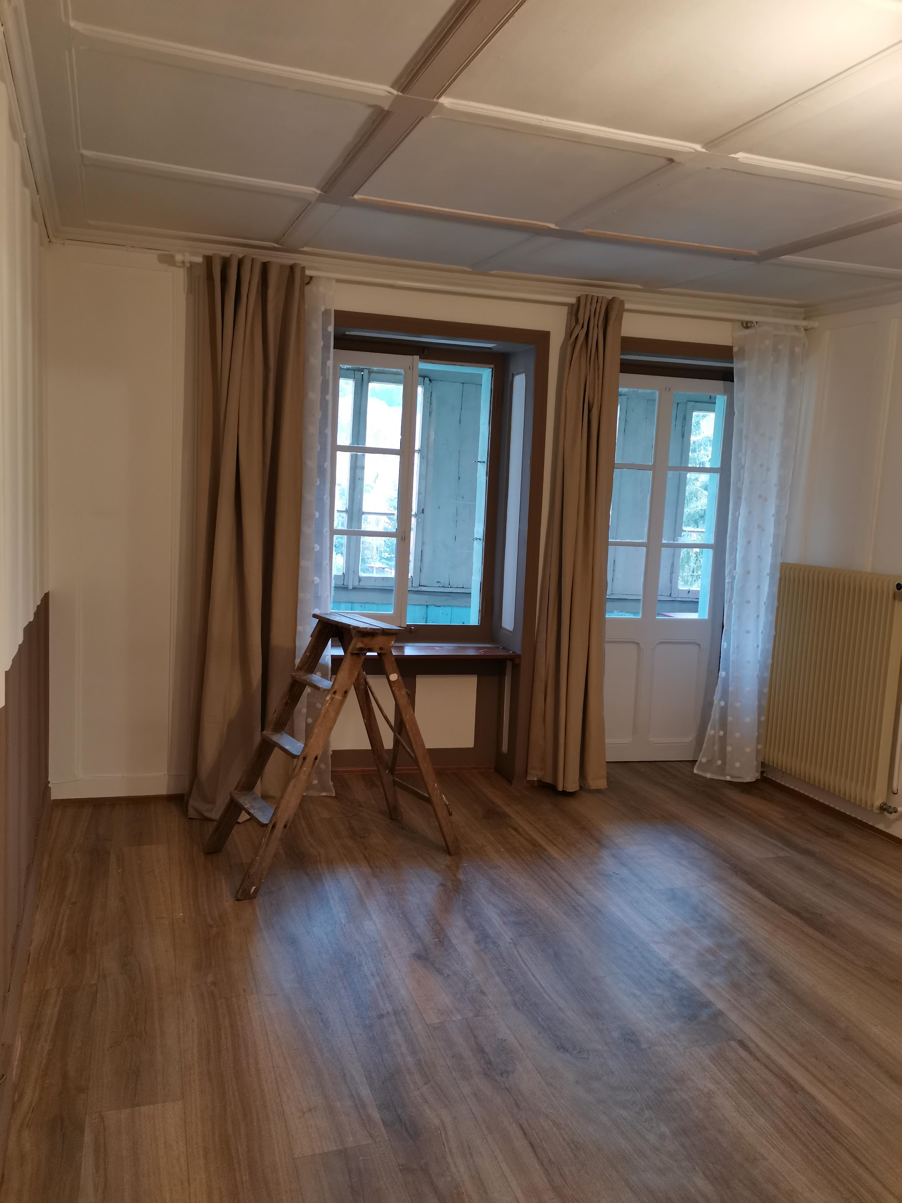 La chambre avec rideaux