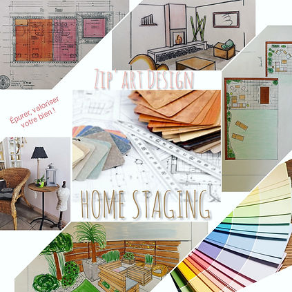 planches, croquis, plan, home staging