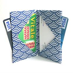 Porte-cartes origami en tissu